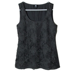 W by worth floral textured sleeveless top career
